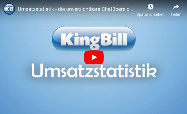 KingBill Umsatzstatistik