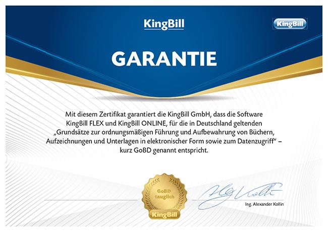 KingBill ist GOBD konform